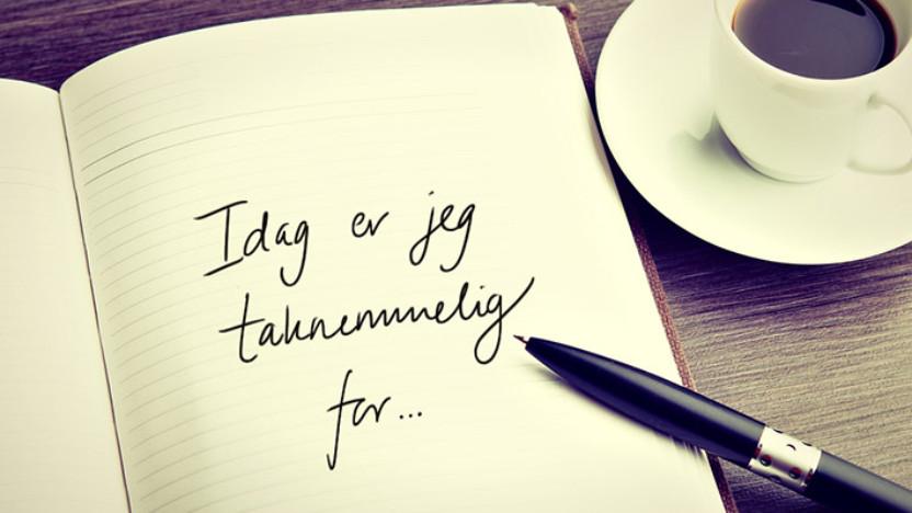 Hvor hurtigt kan du skrive en liste på 40 ting, du er taknemmelig for?